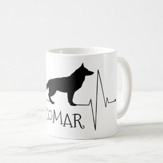 Personalized German Shepherd Love Dog Heart Beat Coffee Mug