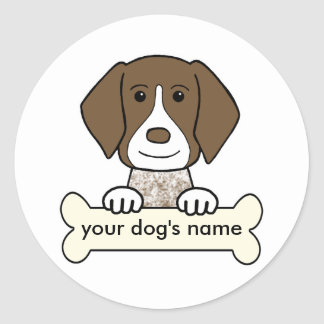 Personalized German Shorthaired Pointer Classic Round Sticker
