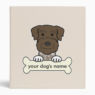 Personalized German Wirehaired Pointer 3 Ring Binders