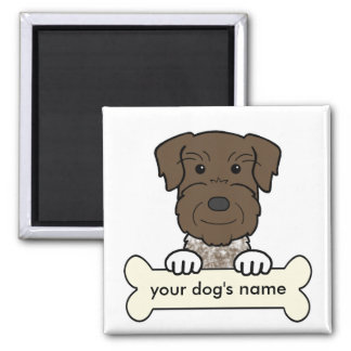 Personalized German Wirehaired Pointer Square Magnet