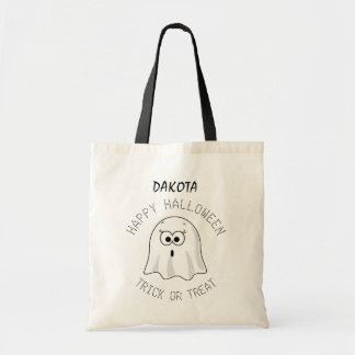 Personalized Ghost Halloween Candy Bag