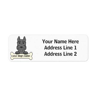 Personalized Giant Schnauzer Return Address Labels