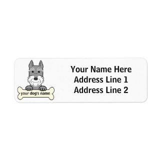 Personalized Giant Schnauzer Return Address Label