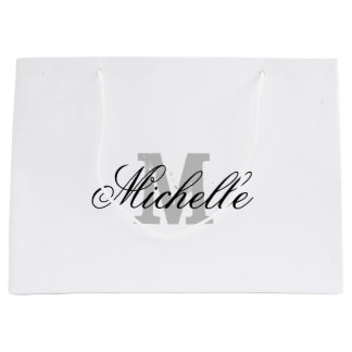 Personalized gift bag with chic name monogram