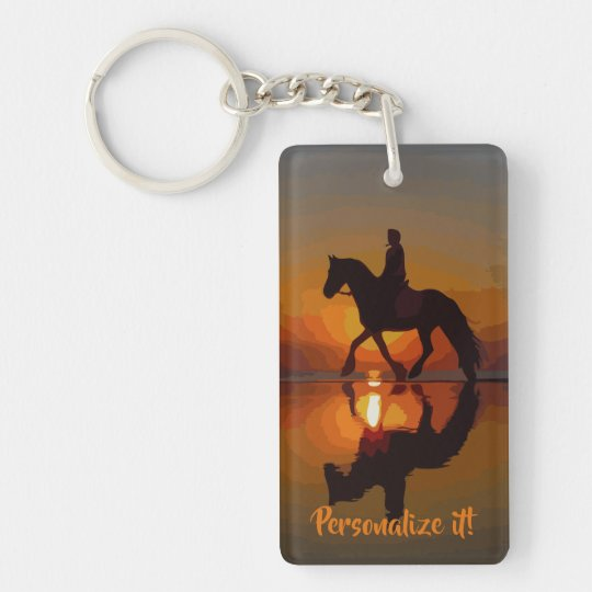 Personalized Gift for Horse Lover.Horseback Riding Keychain