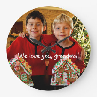 Personalized Gifts For Grandma Round Wall Clock