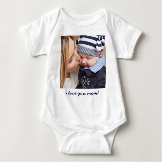 Personalized Gifts For Mom Add Your Photo And Text Baby Bodysuit