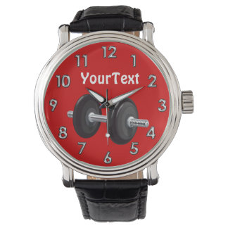 Personalized Gifts for Weightlifters Barbell Watch