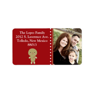 Personalized Ginger Bread Man  Mailing Label