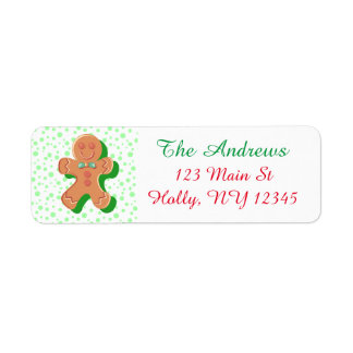 Personalized Gingerbread Christmas Address Label
