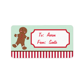 Personalized Gingerbread Christmas Gift Tags