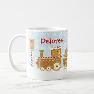 Personalized Gingerbread Train Christmas Mug