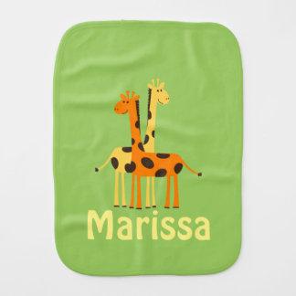 Personalized Giraffe Baby Gifts Burp Cloth