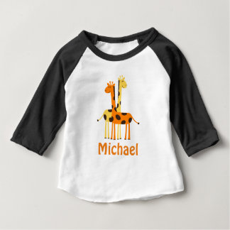 Personalized Giraffe Baby Gifts Shirt