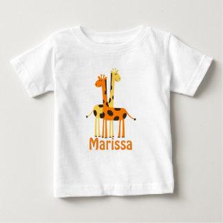 Personalized Giraffe Baby Gifts T-shirts