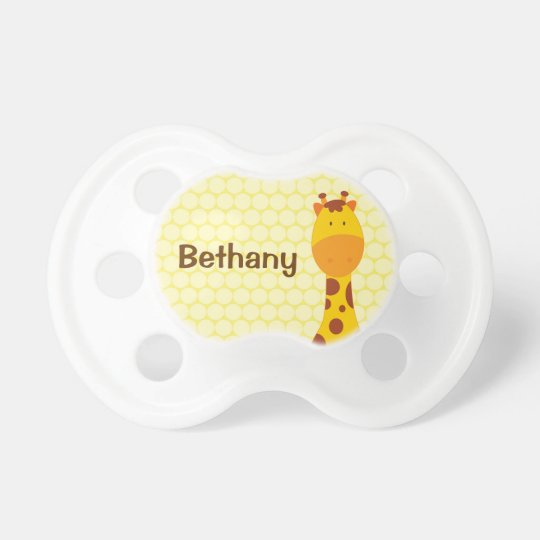 Personalized Giraffe Pacifier