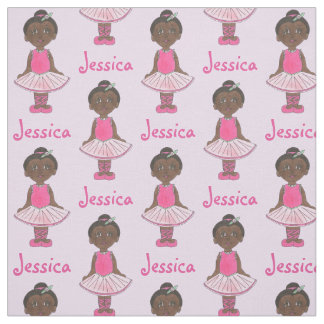 Personalized Girl Ballerina Pink Tutu Ballet Dance Fabric
