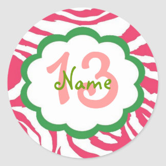 Personalized Girl Birthday Sticker