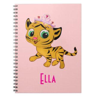Personalized Girl Tiger Princess Tigress Notebook