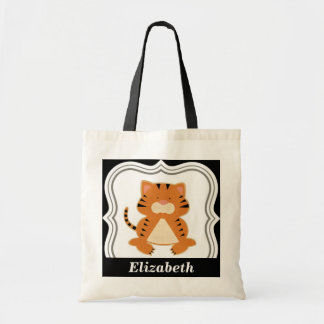 Personalized girl tote