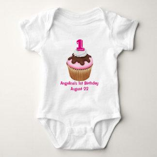 Personalized Girl's Cupcake Birthday T-shirt