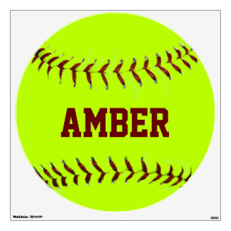 Personalized Girls Fastpitch Softball Wall Decal