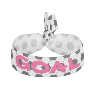 Personalized Girl's Football Soccer Ball Pattern Hair Tie