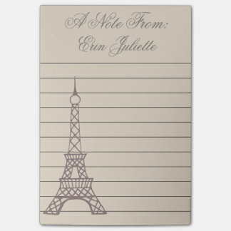 Personalized Girl's Paris Eiffel Tower Gift Post-it Notes