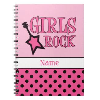 Personalized Girls Rock Notebook