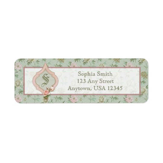 Personalized Girly Chic Green and Pink Floral