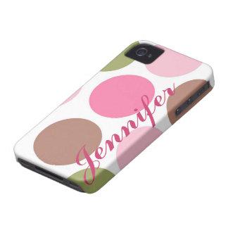 Personalized Girly Polka Dot IPhone4 vibe Case