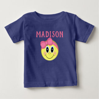 Personalized Girly Smiley Face TShirt