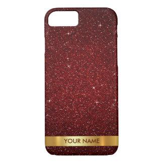 Personalized Glam Gold Red Carpet Velvet Glitter iPhone 7 Case