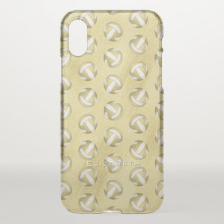 personalized glam gold women's volleyball iPhone x case
