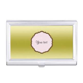Personalized Glamorous Gold Business Card Holder