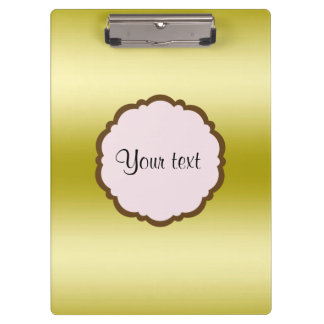 Personalized Glamorous Gold Clipboard