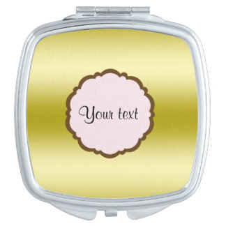Personalized Glamorous Gold Compact Mirrors