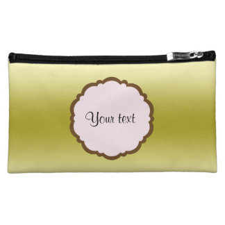 Personalized Glamorous Gold Cosmetic Bag