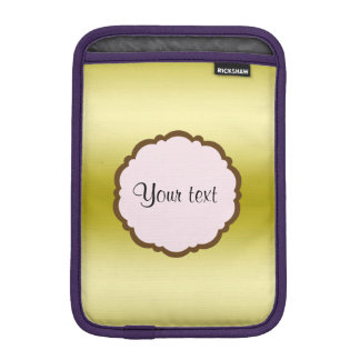 Personalized Glamorous Gold iPad Mini Sleeve