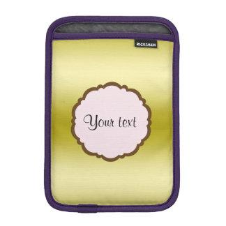 Personalized Glamorous Gold iPad Mini Sleeves