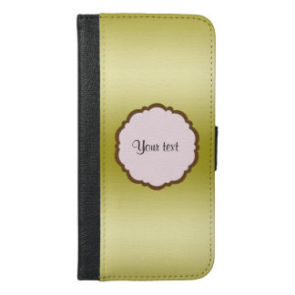 Personalized Glamorous Gold iPhone 6/6s Plus Wallet Case