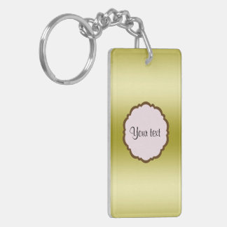 Personalized Glamorous Gold Keychain