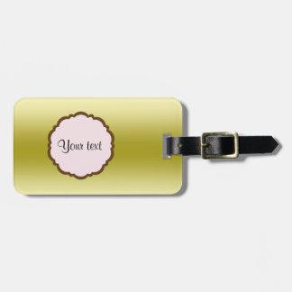 Personalized Glamorous Gold Luggage Tag