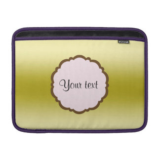 Personalized Glamorous Gold MacBook Air Sleeve