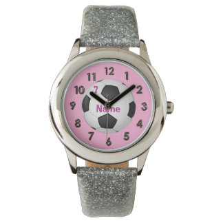 PERSONALIZED Glitter Soccer Watch for Girls