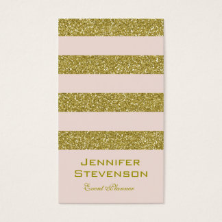 Personalized Gold And Pink Business Card