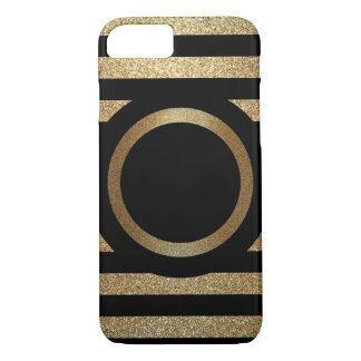 Personalized Gold & Black Phone Case