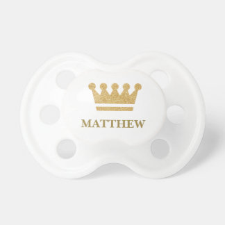 Personalized Gold Crown Custom Baby Pacifier