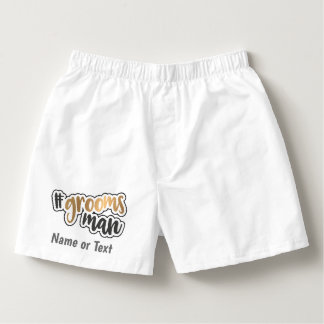 Personalized Gold Effect Groomsman Boxers