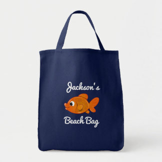 Personalized Gold Fish Beach Bag